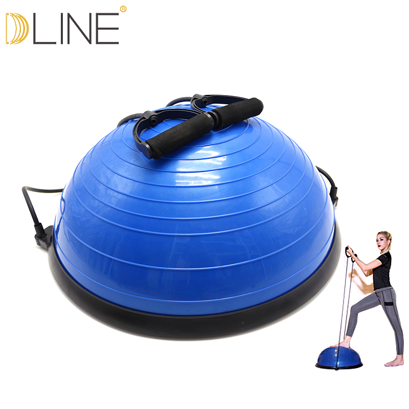 dline Yoga Balance Pilates Gym Workout Bosu Half Ball Exercises Yoga Balance Bosu Fitball With Strings & Pump yoga fitness half bosu balance yoga ball bo speed ball