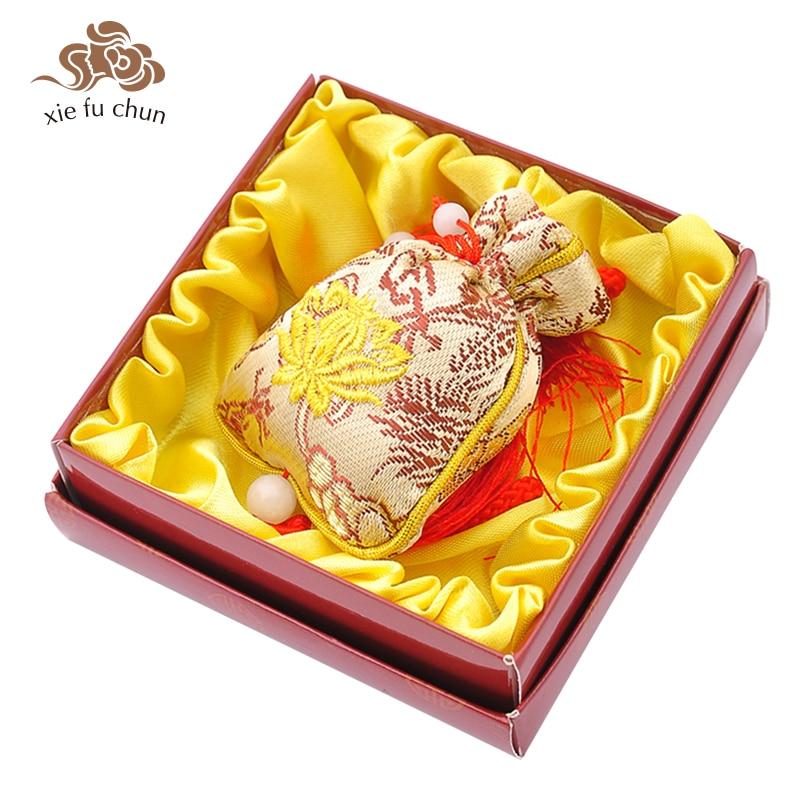 Xiefuchun Sandalwood Perfume Sachet Scented Sachet Aromatic Car Perfume Fragrance Deodorant Bag Air Freshener Wardrobe XFC12-3