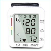 health care Automatic digital Wrist type electronic blood pressure monitor Heart Beat Rate Pulse Meter Sphygmomanometers