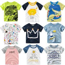 Loozykit/Летняя детская футболка для мальчиков с принтом короны, футболки с короткими рукавами для маленьких девочек, хлопковая детская