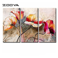 ZOOYA Diamond Embroidery 5D DIY Diamond Painting Beautiful Flower 3PCS Diamond Painting Cross Stitch Rhinestone Mosaic