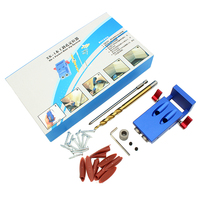 Mini Kreg Style Pocket Hole Jig Kit System For Wood Working & Joinery + Step Drill Bit & Accessories Wood Work Tool Set