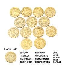 Gold English Arrhae Wedding Unity Coins Set with Gift Box Arras Coin Silver Ceremony Filipino Arraz Bride
