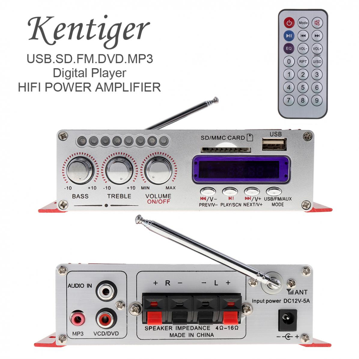 HY 502 2CH HI FI Digital Audio Player MP3 Speaker Car Amplifier FM Radio Stereo Player Support SD / USB / MP3 / DVD Input|Stereo Amplifiers|   - title=
