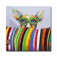 أعلى جودة كلب النفط شحن مجاني كبير الحجم رخيصة خلاصة الطلاء الفن ديكور ل غرفة المعيشة الحديثة