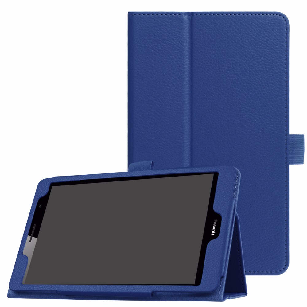 TODKAI Ultra Thin Litchi Stand PU Leather Protector Sleeve For Huawei MediaPad T3