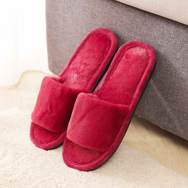 8415e70c3 ... Fur slippers shoes woman fashion tap hoe winter sandals female casual women  shoes Indoor comfortable warm ...