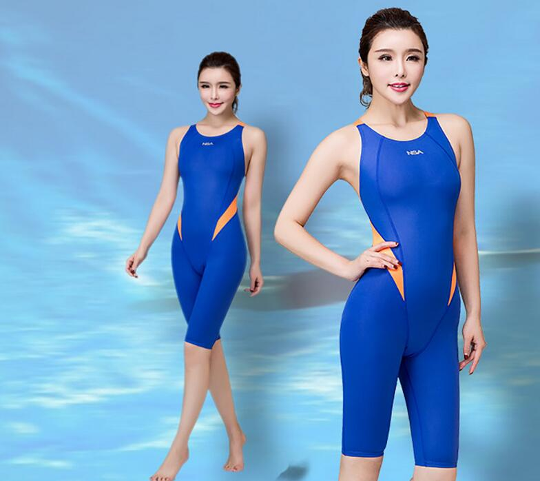 NSA Girls Swimwear Arena Swimsuit Women One Piece Swimsuit Knee Competition Swimsuit Racing Suit Girls Sport Swimsuits Swimming(China)