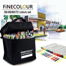 FINECOLOUR 160 Colori Doppia Headed Vernice Sketch Marker Penna Architettura A Base di Alcool Pennarelli Artistici Set Manga Disegno