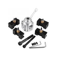 Алюминиевый сплав быстрая замена Мини токарный инструмент пост и держатель комплект