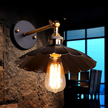 vintage black iron Wall Mounted Bedside Reading Lights E27  Led Wall Light  Indoor Lighting A100