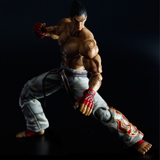 Boxed Game Tekken Tag Tournament 2 Play Arts Kai Mishima Kazuya PVC Action Figure Resin Collection Model Doll Toy Gifts Cosplay