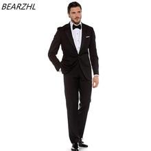modern mens suits groom wedding tuxedo black formal wear custom made suit 2017 dress fashion