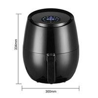 Friteuse à Air électrique multifonction 1400W, 5,2 l, sans huile, appareil sanitaire, tactile LCD, intelligent 6
