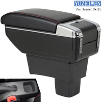 For Suzuki Swift Armrest Box Suzuki Swift Universal Car Central Armrest Storage Box cup holder ashtray modification accessories