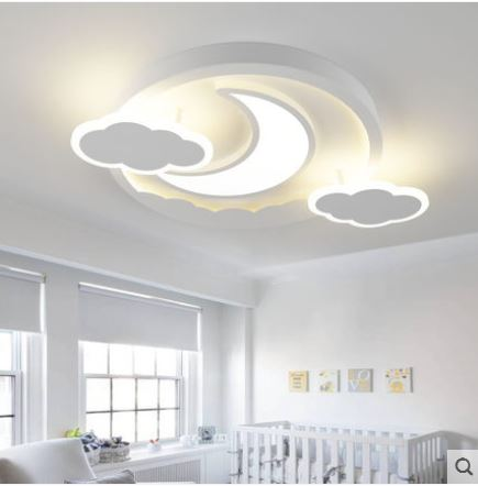 US $167.9 27% OFF|New Cloud Moon Children\'s Ceiling Lights Boys and Girls  Room Bedroom Lighting Creative Cartoon Eye Lights-in Ceiling Lights from ...