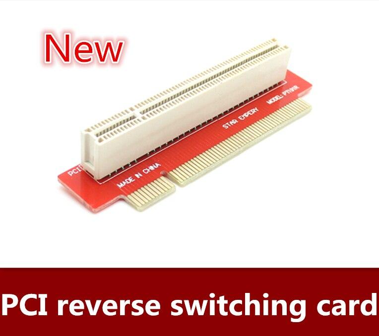 NEW 2pcs/lot Free shipping PCI adapter reverse switching card 1U chassis PCI transverse adapter card