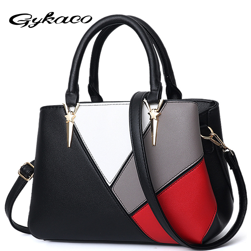 Gykaeo Luxury Handbags Women Bags Designer European and American Style Fashion Patchwork Shoulder Bag Ladies All Match Tote BagsGykaeo Luxury Handbags Women Bags Designer European and American Style Fashion Patchwork Shoulder Bag Ladies All Match Tote Bags