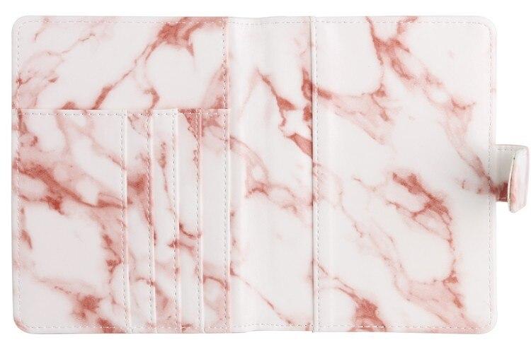 KUDIAN BEAR mármol estilo pasaporte cubierta impermeable pasaporte ...