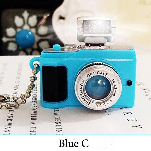 Светодиодная камера мигающая игрушка для детей цифровой брелок с камерой светящийся звук вспышка светильник Подвеска сумка Аксессуары Детская игрушка - Цвет: Blue C