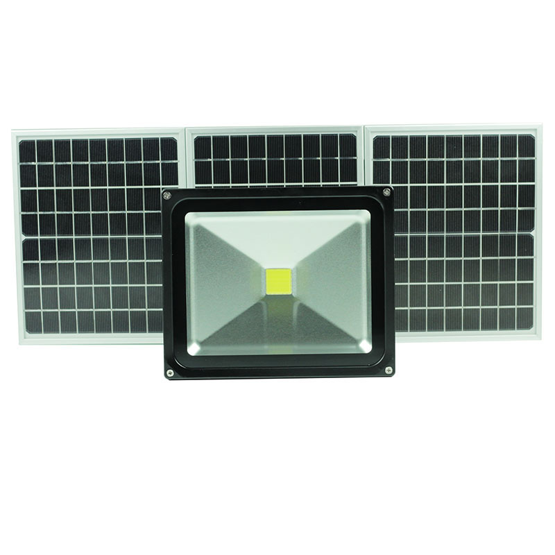 50W solar light Rechargeable max. working time8hours high power outdoor LED floodlight IP65 camping