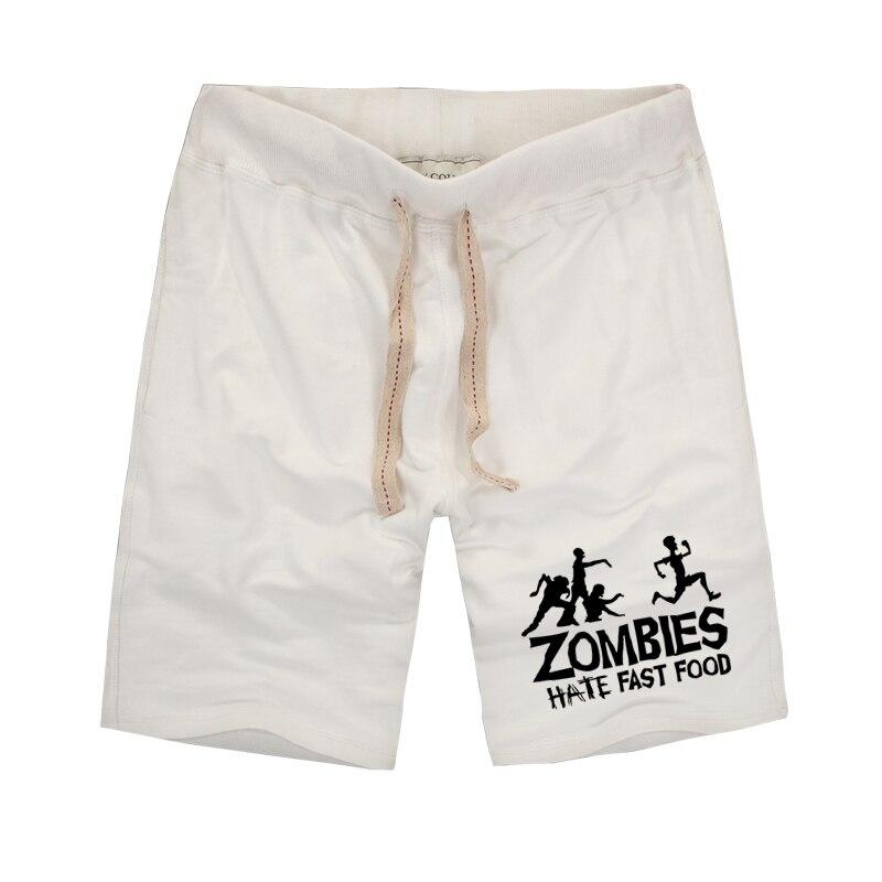 Persönlichkeit Design 2019 Zombies Hate Fast Food Gedruckt Lustige Muster Shorts Neue Sommer Stil Bermuda Masculina Strand Shorts
