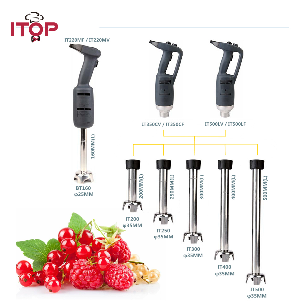 ITOP 500W Commercial Immersion Blender Electric Food Mixer 4000~16000RPM Speed Handheld Safe Agitator Blender Food Processors цена и фото