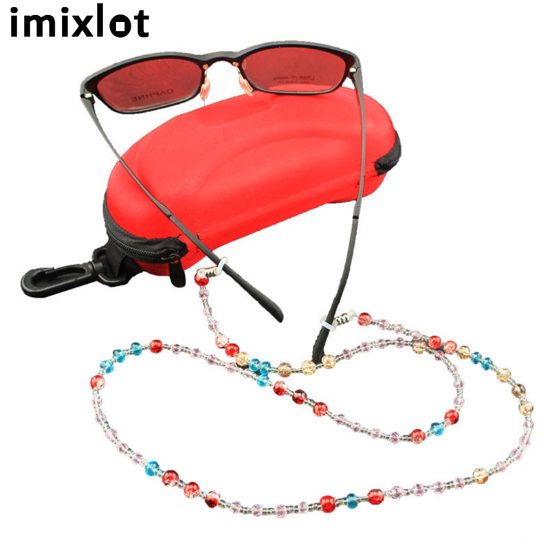 IMIXLOT 70cm Colorful Beaded Glasses Sunglasses Spectacle Beads Chain Strap Cord Holder Neck Lanyard Eyewear Accessories