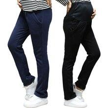 Осеннее и зимнее теплое платье для беременных; брюки; бархатные зимние утепленные свободные брюки для беременных женщин; большие размеры