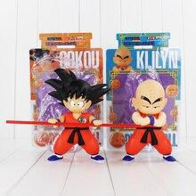 2 стиля аниме милый вращающийся Драконий жемчуг Z Goku Krillin фигурка игрушка Сон Гоку куририн детская модель кукла детский подарок