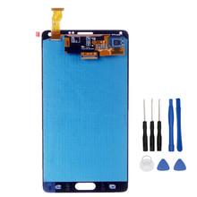 Wysokiej jakości LCD do Samsunga Galaxy Note 4 N910 N910A N910F N910H ekran dotykowy Digitizer zgromadzenia + narzędzia tanie tanio 2560x1440 Pojemnościowy ekran for Samsung Note 4 3 sino emax