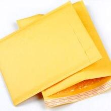 Желтая Крафтовая бумага пузырь бумажные конверты подарки посылка конверты 10 шт./компл. 90X130 мм