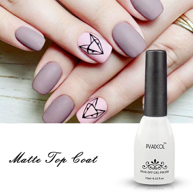 Pvadcol Matte Top Coat Uv Gel Polish Losweken Nail Gel Nail Art Tips