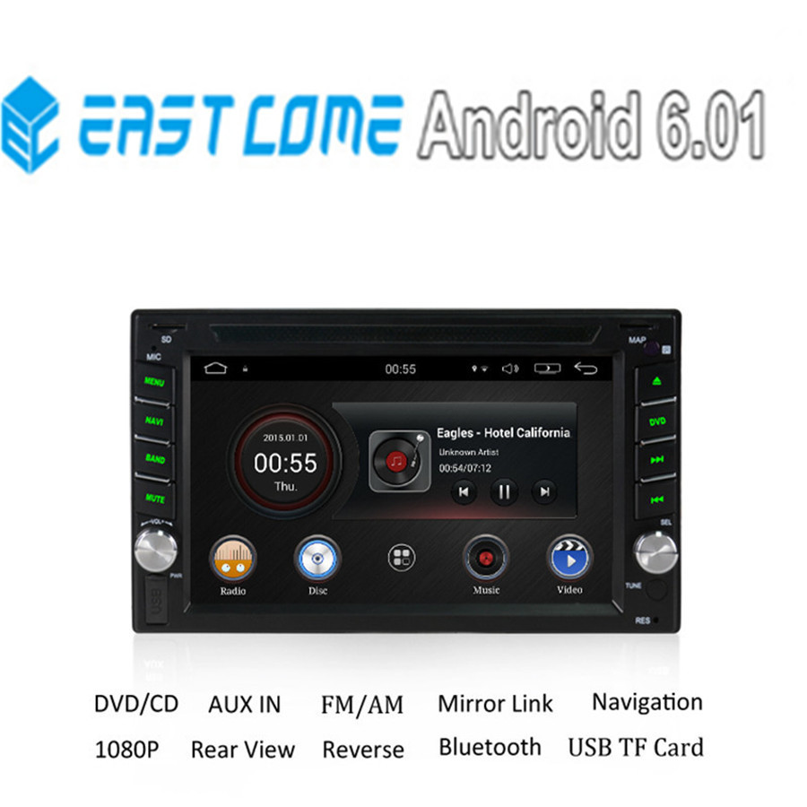 все цены на 2GB RAM Quad Core Android 6.0 Universal Multimidia Double 2din 2 din Car Radio DVD Player GPS Navigation for VW Toyota Nissan онлайн