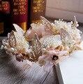 Joyería nupcial de Corea del dulce flor eterna tocado de corona de pelo adornos de concha accesorios de modelado del vestido de boda 240