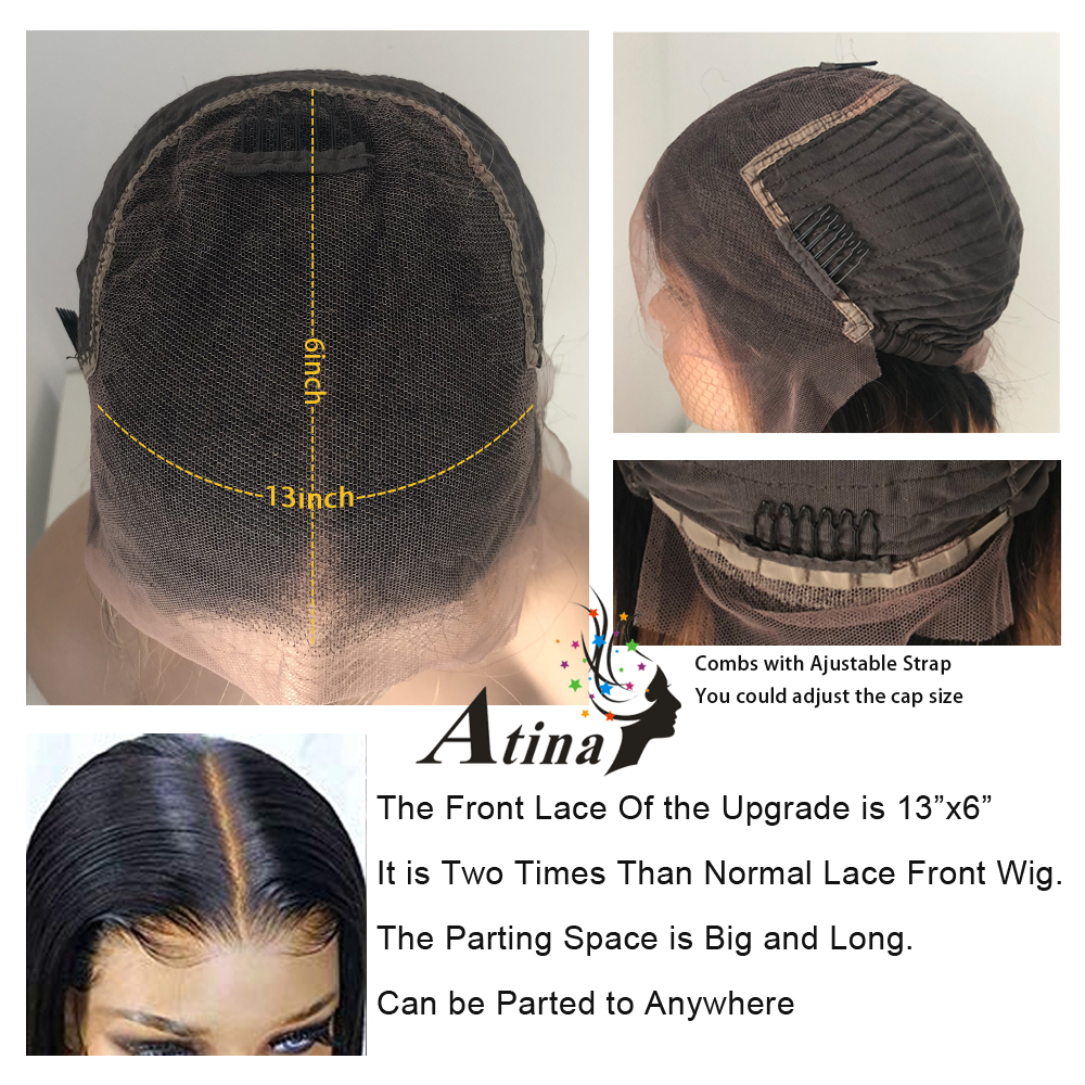 Image 3 - 13x6 Deep Part Straight Lace Front Orange Human Hair Wigs With Baby Hair Deep Parting Remy Hair Lace Front Wig Pre Plucked Hair-in Human Hair Lace Wigs from Hair Extensions & Wigs