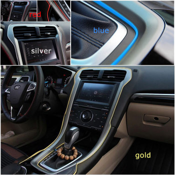 1M Universal Car Door Dashboard Air Outlet Steering wheel Styling Flexible Interior Decoration Moulding Trim Car Accessories image