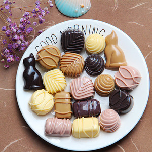 Chocolate Slime Supplies Accessories Phone Case Decoration for Slime Diy Filler Miniature Resin Cake Fruits Candy Chocolate E