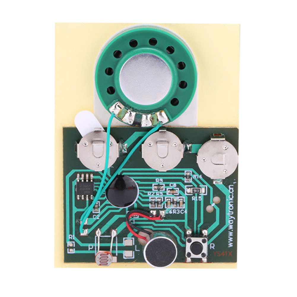 Image 2 - 30s Sound Voice Audio Recordable Music Recorder Board Module Chip Programmable Music Module for Greeting Card DIY-in Portable Lighting Accessories from Lights & Lighting