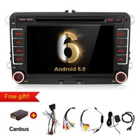Quad Core Android 6 0 Car Dvd Player Gps 2Din 7 Inch For Volkswagen VW Skoda