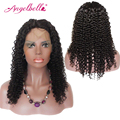 Angelbella Kinky Curly Lace Wigs 150% Density Natural Color Kinky Curly Wigs Glueless Lace Front Wigs 14''-24'' In Stock