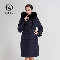 SALCO In 2016 The Latest Ms Blue Fox Collars Warm Winter Mink Article Two Color Long