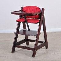 Многофункциональный ребенок одноцветное обеденный стул из дерева столик для кормления малыша твердая древесина детский стульчик