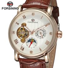 FSG800M3R2  Forsining Automatic fashion business original watch for men with moon phase gift box free shipping best price