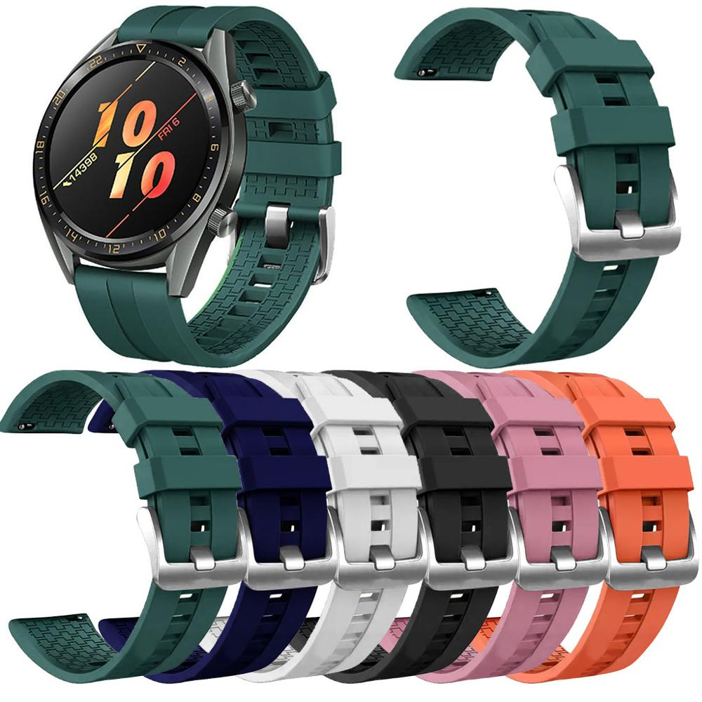 Replacement Silicone WristStrap Watch Strap On For Huawei Watch GT / GT Active 46mm / Honor Magic Band Smartwatch Watchstrap