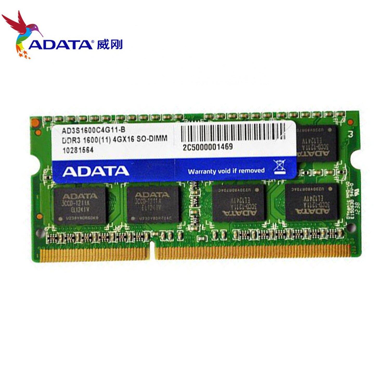 AData 4GB DDR3L 4GB 1600MHz 2RX8 PC3 DDR3 Notebook RAM SO DIMM 1333