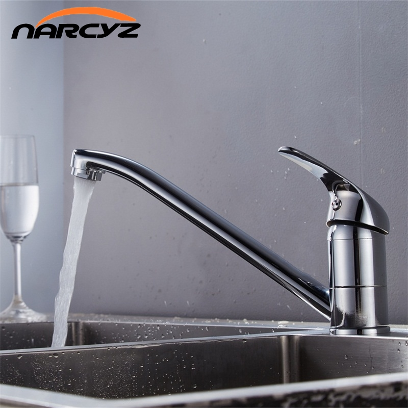 New Style Deck Mounted Kitchen Sink Faucet Hot and Cold Water Chrome/ Mixer Tap 360 degree rotation Basin mixer XT-127 chrome kitchen sink faucet 360 degree rotating spout faucet hot and cold water mixer tap deck mounted