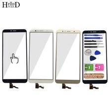 Sensor de tela tátil móvel 5.7 , para huawei honor 7a pro AUM L29, tela touch, digitalizador, painel frontal de vidro