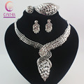 Fashion African Costume Jewelry Sets   Crystal Wedding Women Bridal Accessories nigerian Necklace Set