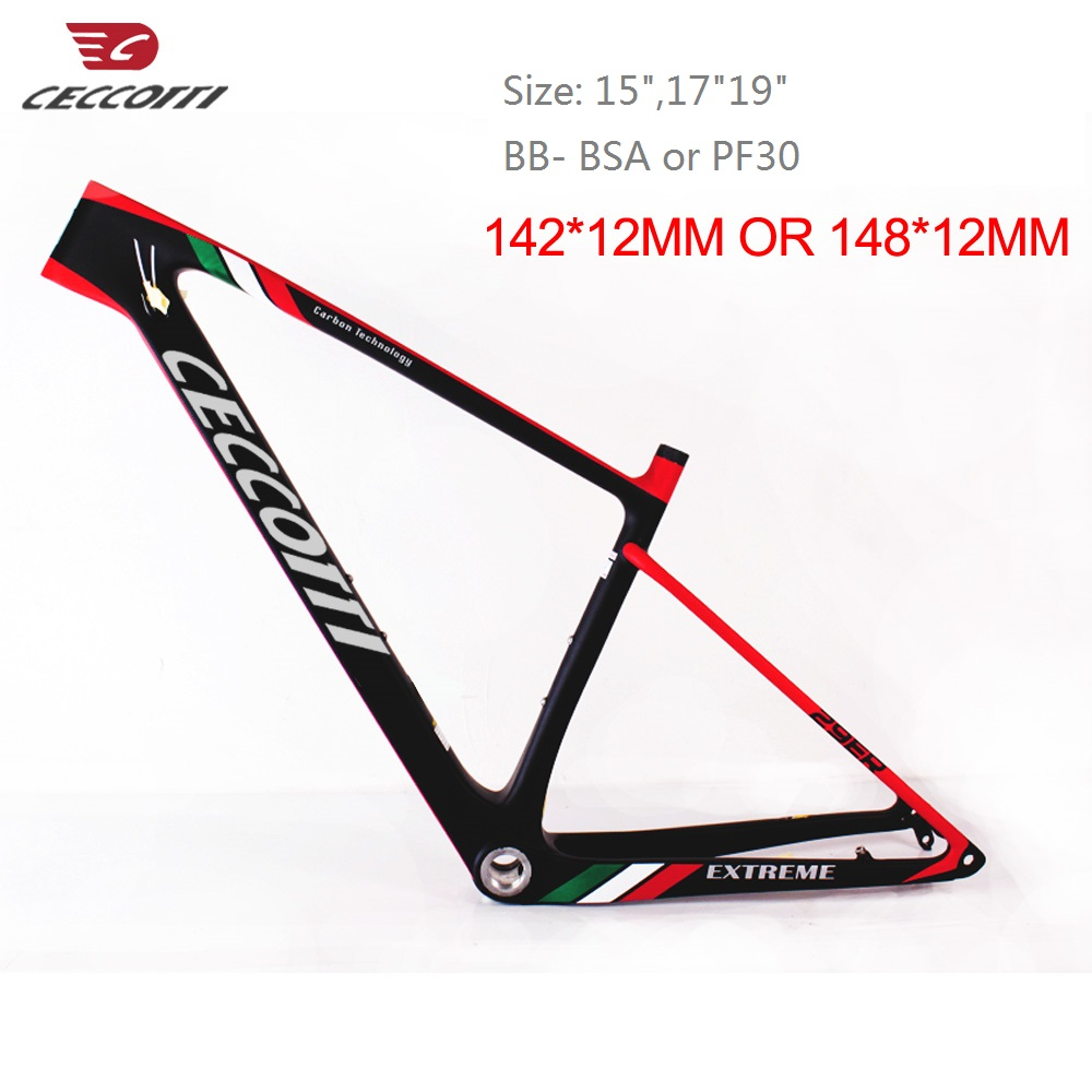 2019 Newest Carbon Mtb Frame 29er 27.5er 15 17 19 BSA BB30 Tapered Mountain Bike Frame 2 Year